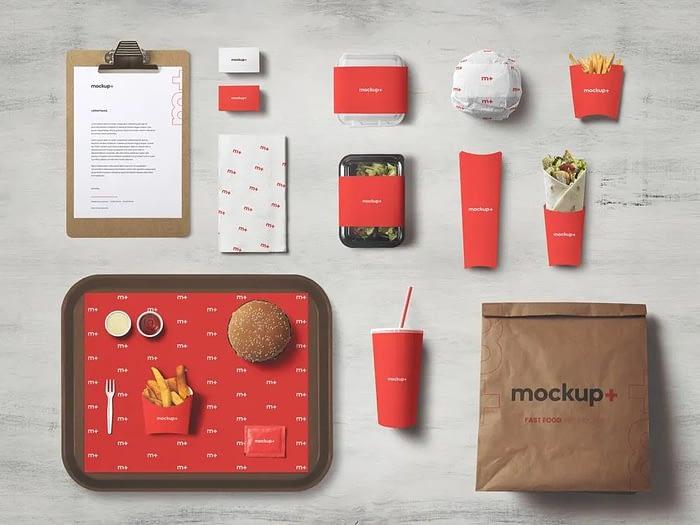 Burger Brand Identity mockup