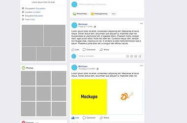 Facebook Mockup download
