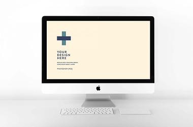 Free iMac Website Mockup (PSD)