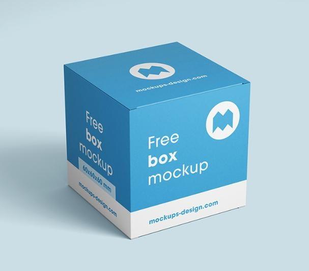 Box mockup design