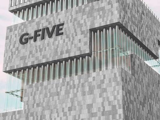 logo mockup on building v2