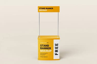 Free Trade Stand Mockup