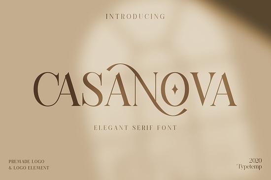 Casanova Serif Display Free Font