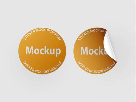 free sticker mockup download