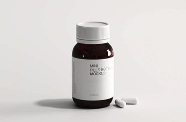 pills bottle mockup free download